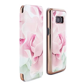 brand new 62e7e a948e Official TED BAKER® AW16 Luxury Folio Case Cover with Built-In Interior  Mirror in Flower Design for Samsung Galaxy S8 2017 for Women - KNOWAI - ...