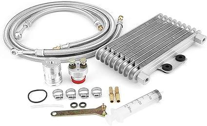 Kit de enfriador de aceite de motor de motocicleta de aluminio de ...