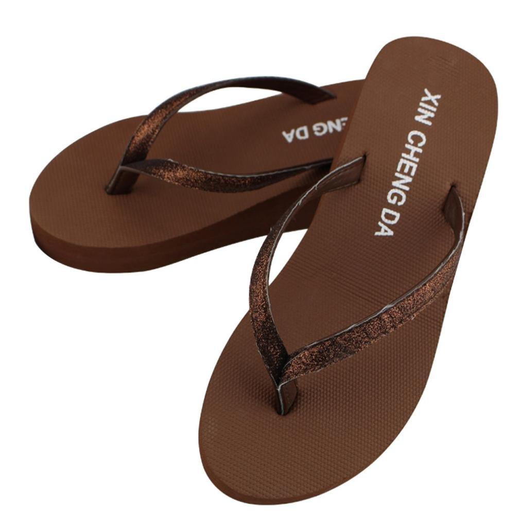 Alonea Women Casual Fashion Flip Flops Outdoor Slippers Summer Platform Shoes
