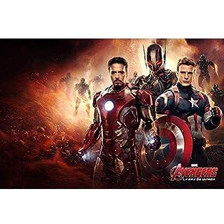 Puzzle ⏰ Poster Iron Man, Jigsaw Legno, Supereroe Captain America Stills, Basswood Perfect Cut & Fit, 300/1000 Pezzi Giocattoli per Fotografia in Miniatura Gioco Art Painting per Adulti e Bambini P