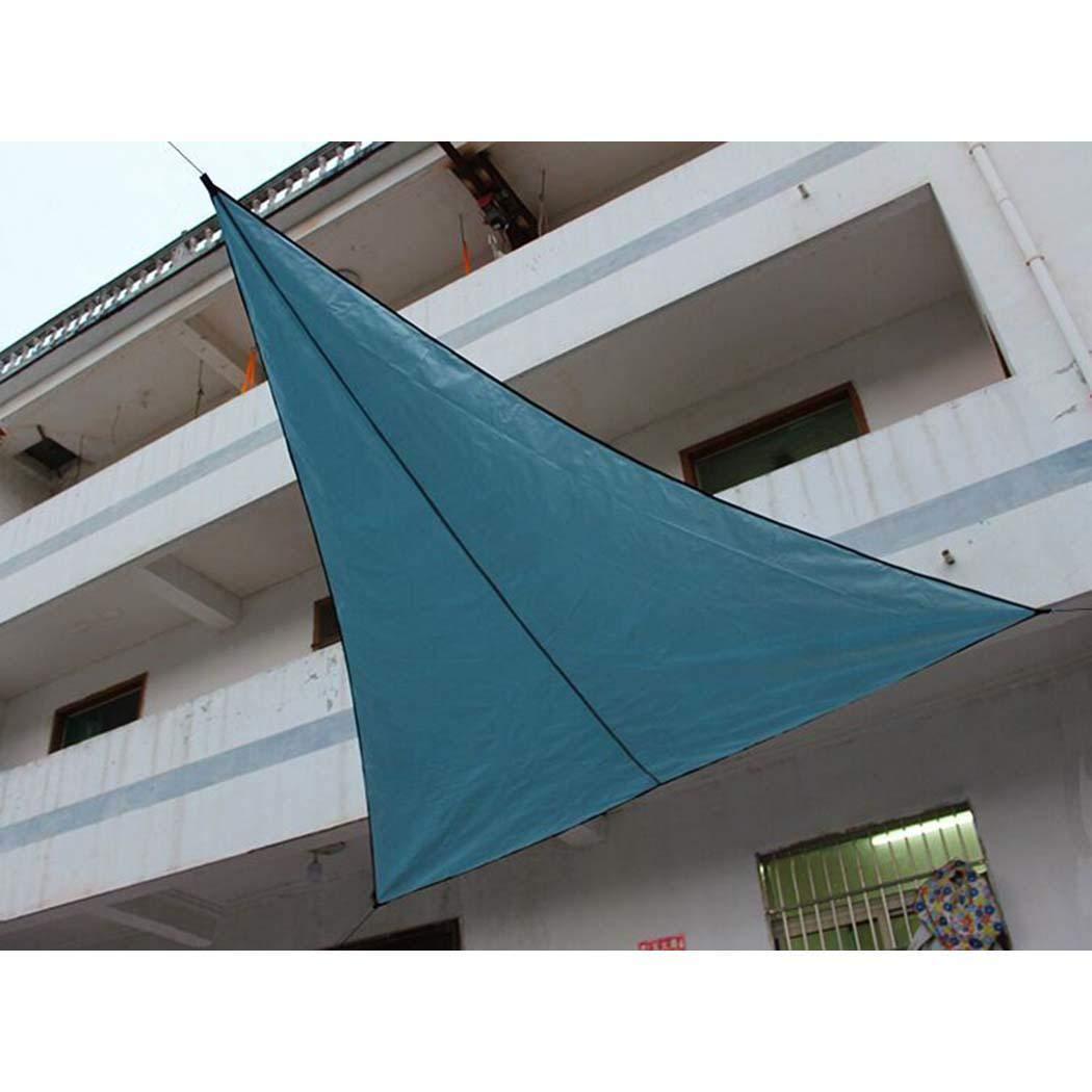 Weardear 118 x 118 x 118 Triangle Sun Shade Sail UV Block Fabric Canopy for Outdoor Patio Garden
