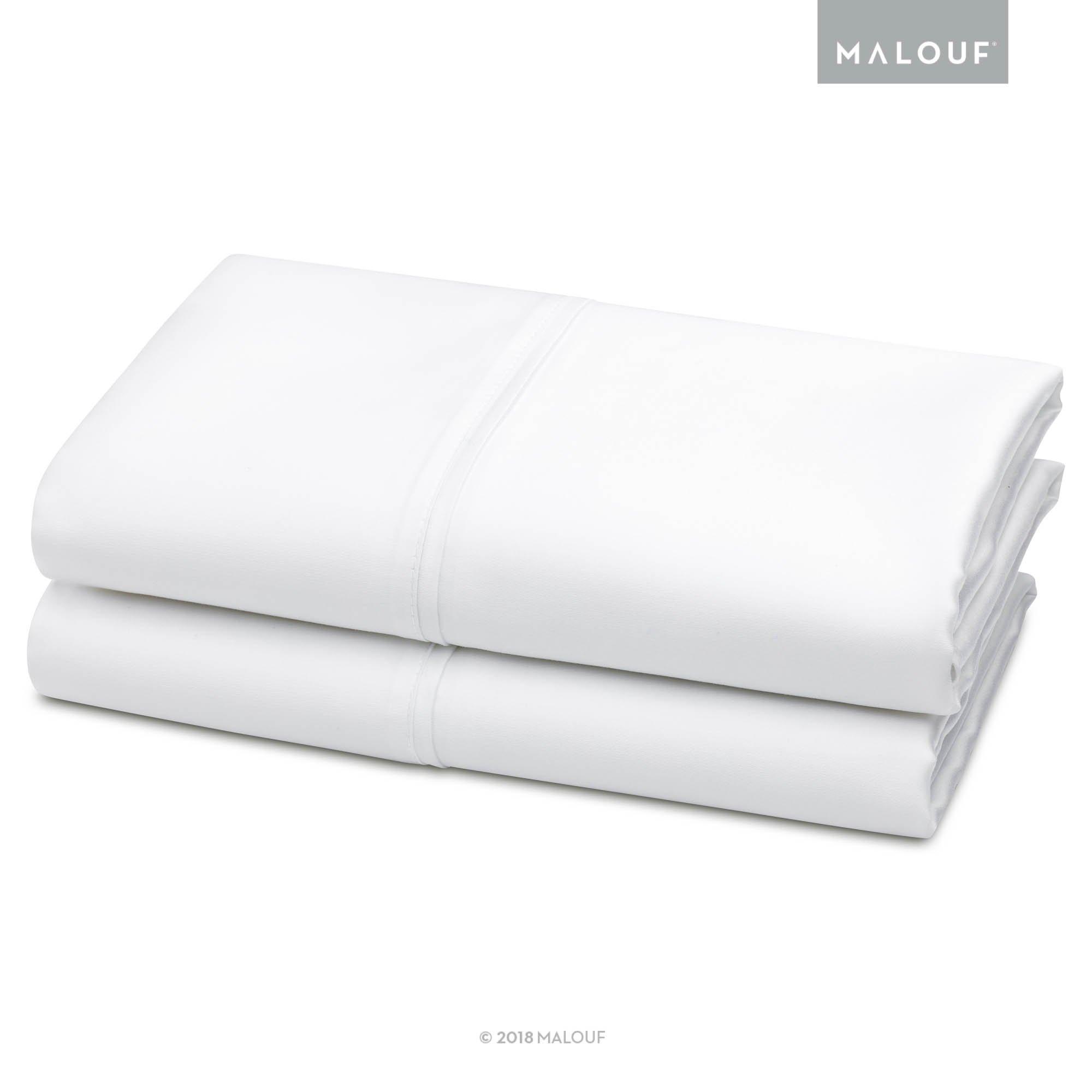 Malouf Tencel Pillowcase Set-Silky Soft, Refreshing and Eco-Friendly-King-Dusk-2pc, King, White