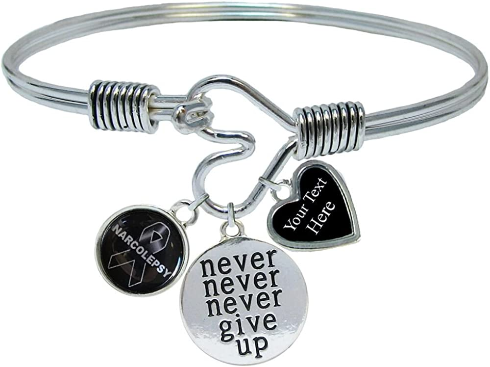 Holly Road Narcolepsy Silver Chain Necklace Choose Your Text