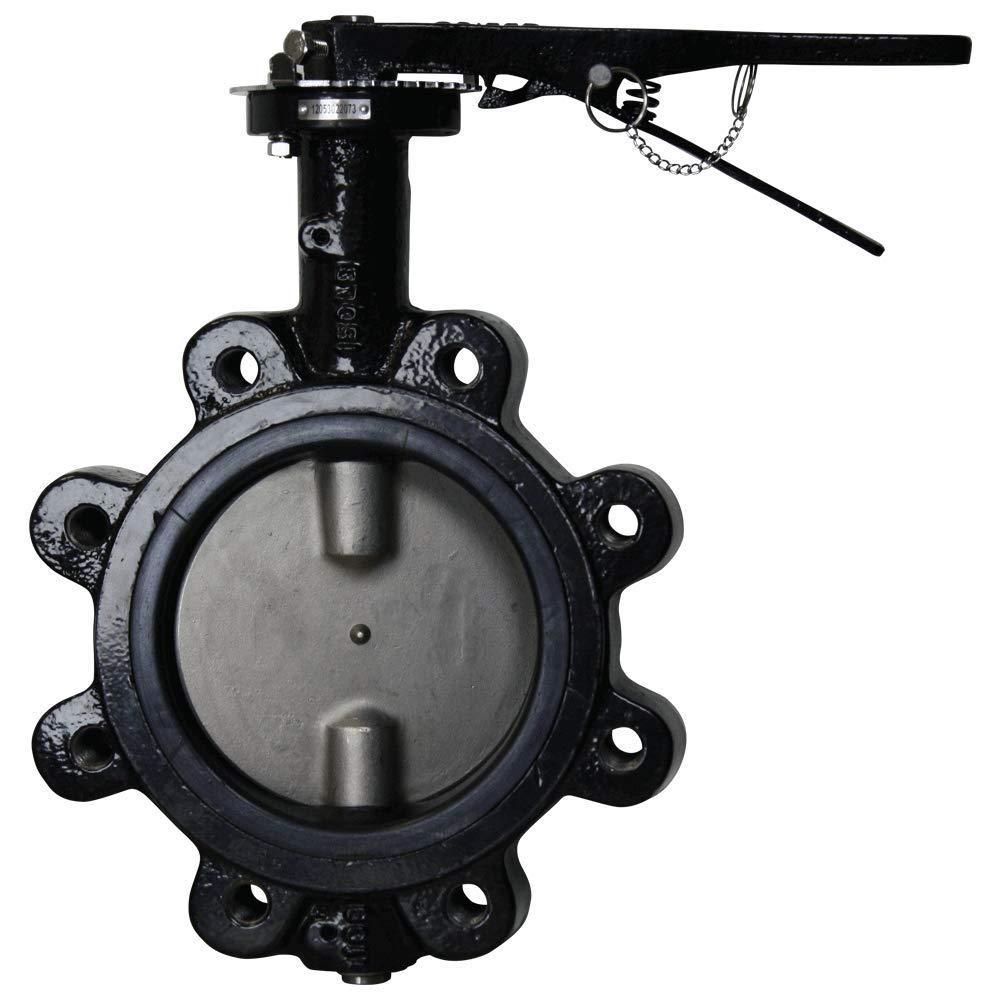 Dwyer WE20-AHD00-LE Butterfly Valve, 2.0 Inch. Lug Connection, EPDM Liner, Manual Hand Lever. Ductile Iron.