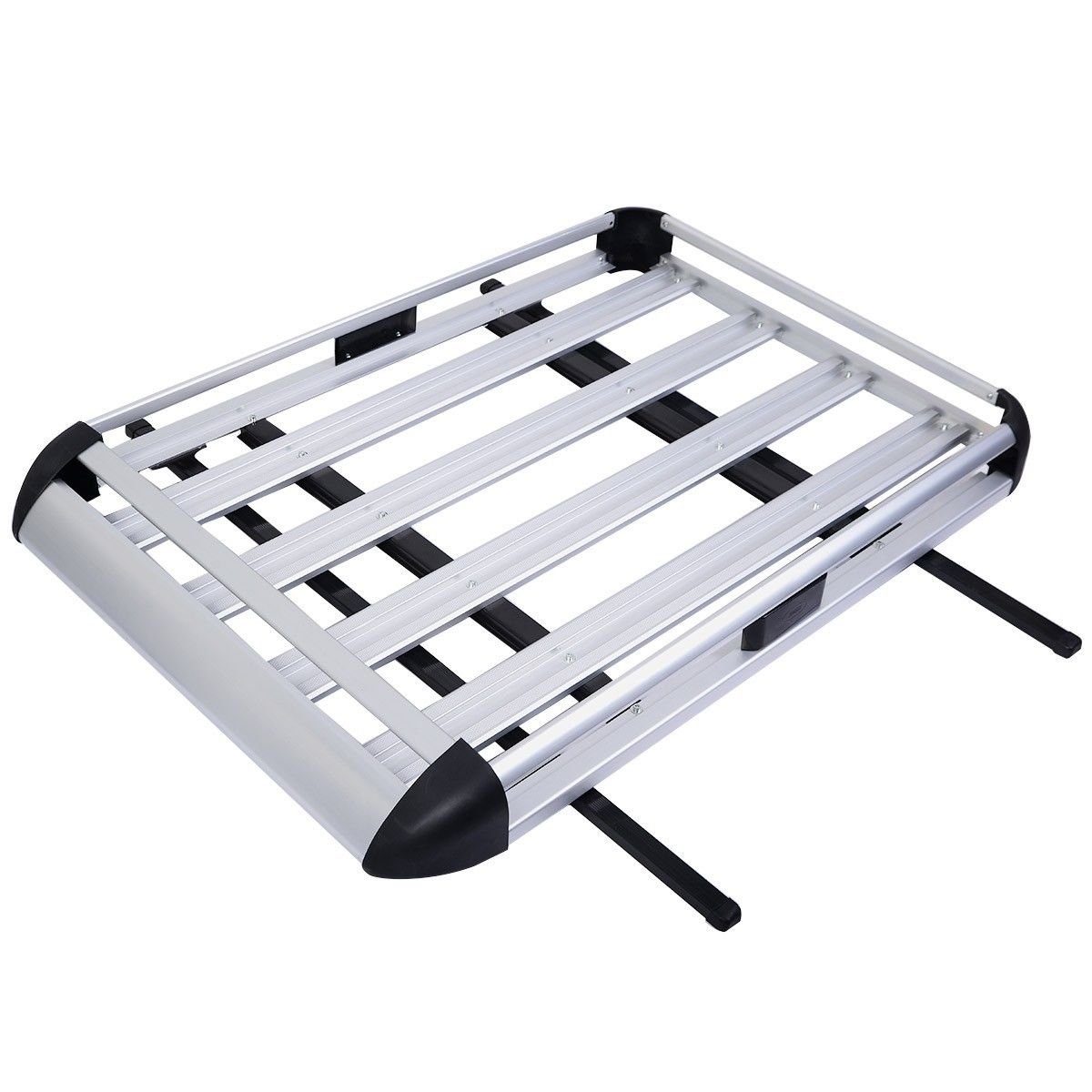 Edxtech 50''x38'' Aluminum Car Roof Cargo Carrier Luggage Basket Rack Top With Crossbars