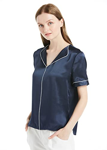 Lilysilk Bulsa Mujer de Seda Colores Contrastes - Camisa de Seda 100% Seda de Mora Natural 22MM, Sup...