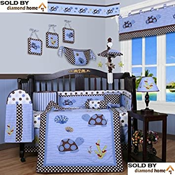 amazon com 13 piece sea turtles baby bedding crib sets neutral