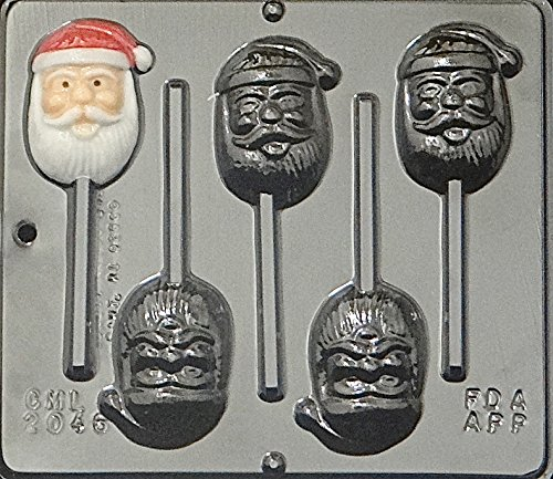 (Santa Face Lollipop Lollipops Chocolate Candy Mold Christmas 2046)