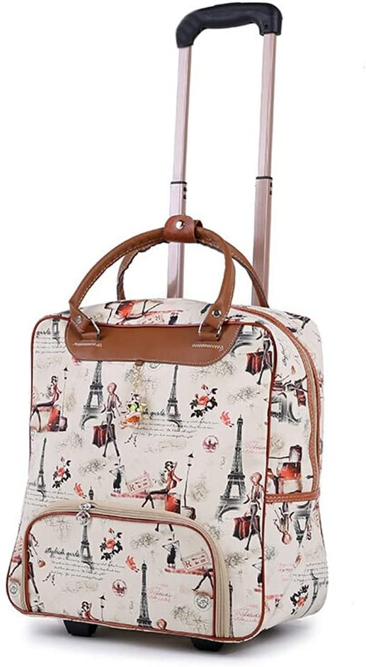 Minmin-lgx Design Pattern Carry On Bag Wheeled Cabin Tote Travel Bag Trolley Case Color : D