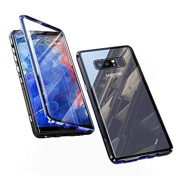 Jonwelsy Funda para Samsung Galaxy Note 8, 360 Grados Delantera y Trasera de Transparente Vidrio Templado Case Cover, Fuerte Tecnología de Adsorción ...