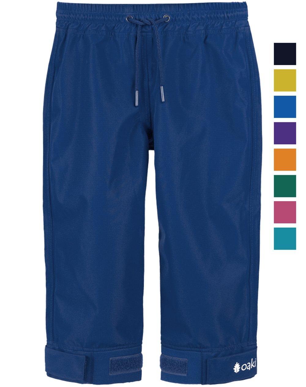 Oakiwear Children's Trail Rain Pants, Navy Blue 4/5