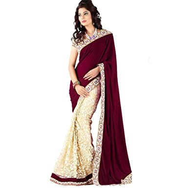 87ef6c52f667 Amazon.com  Women s Saree Sari Designer Indian Dress Bollywood ...