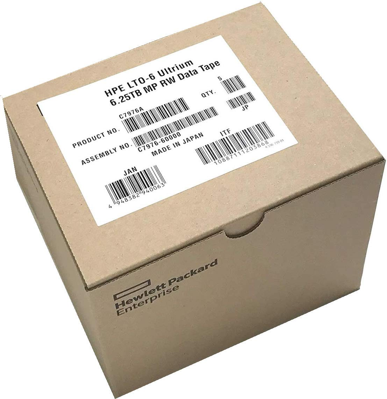 5-Pack HPE LTO 6 Ultrium C7976A (2.5TB/6.25 TB) Data Cartridge C7976A-5 Pack