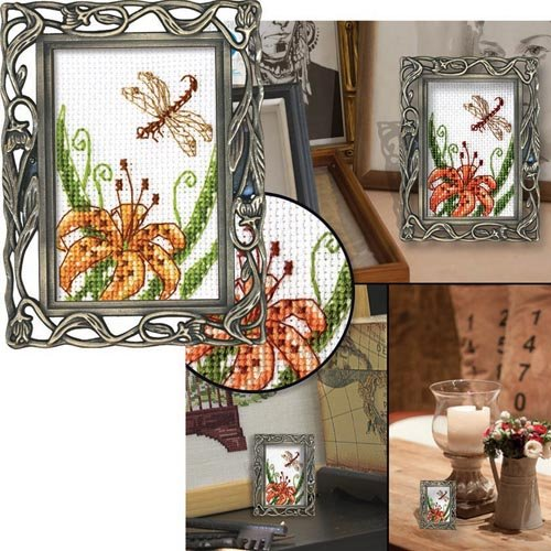 RTO Tiger Lilly Counted Cross-Stitch Kit