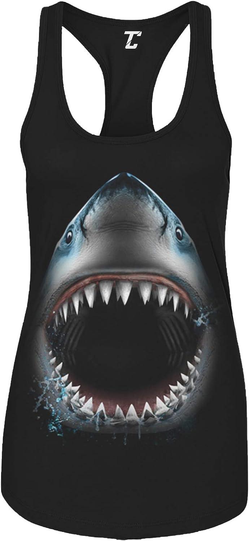 Shark Face - Great White Sea Creature Women's Tank Top