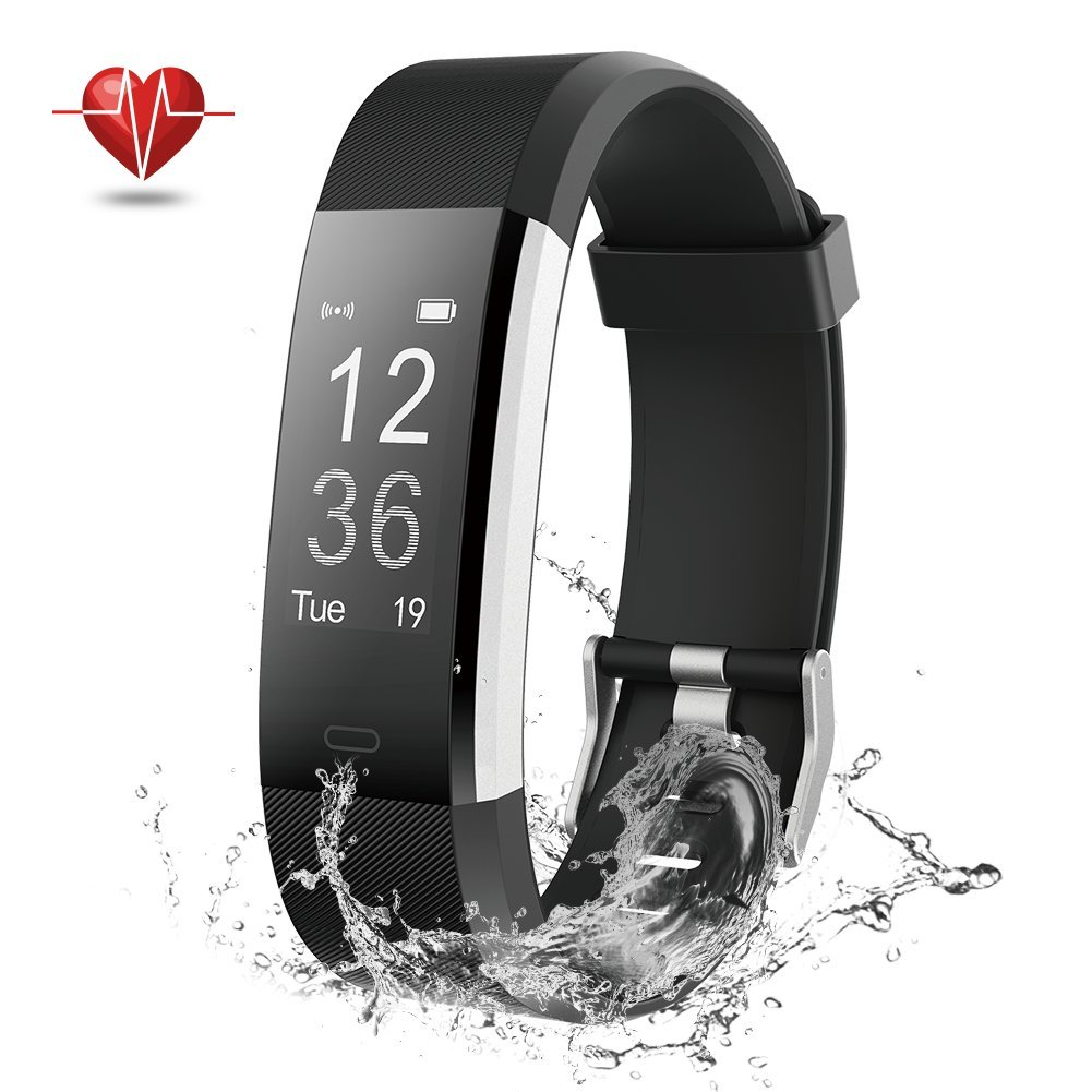 NOVETE Fitness Tracker Bluetooth 4.0 Heart Rate Monitor Bracelet IP67 Waterproof Touch Screen Smart Wristband Pedometer Sports Activity Tracker Smart Watch for Android and iOS Smartphone