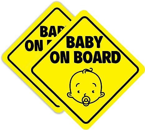 Bebé A Bordo De Seguridad Infantil Con Ventosas coche vehículo signos Niño A Bordo