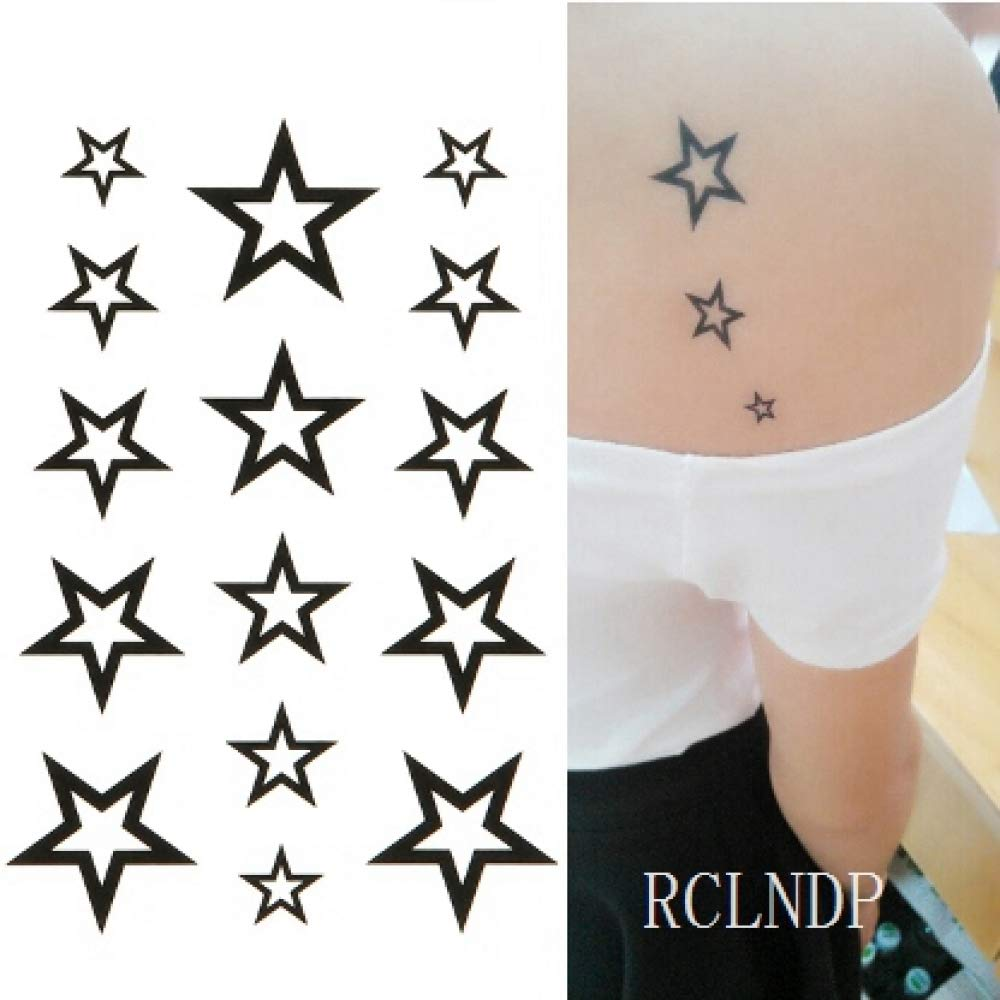 7 Unids-Explosión Modelos Impermeable Tatuaje Estrella de Cinco ...