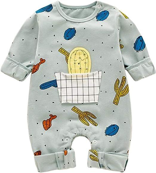 DorkasDE Baby Strampler Neugeborene Kleinkinder Strampleranzug Overall Cartoon Jumpsuit Fr/ühling Herbst Babykleidung