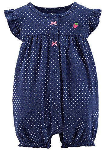 UPC 888510397021, Carter's Baby Girls' Dot Print Romper (Baby) - Strawberry - 3 Months