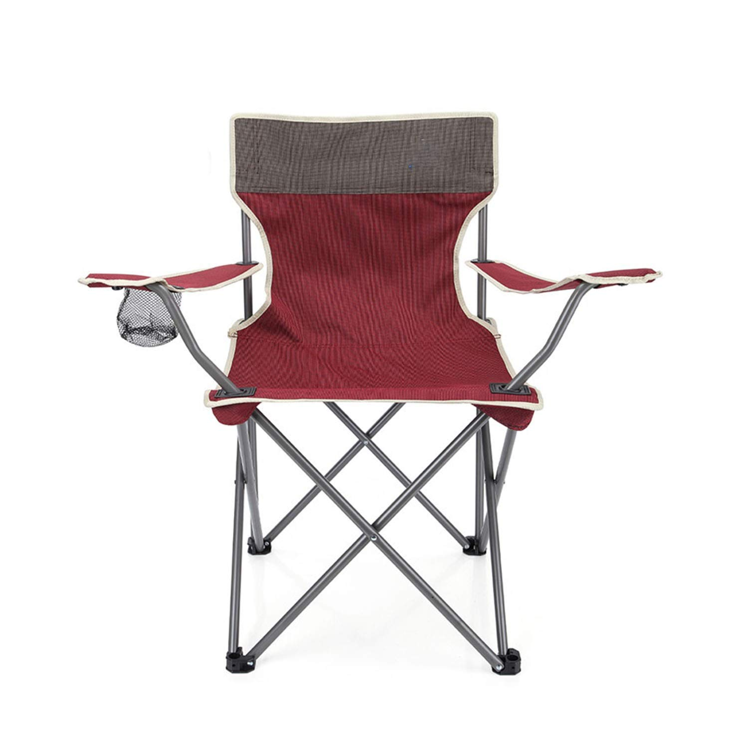 YOZOOE Portable Beach Chair with Back Storage Bag, Outdoor Folding Chair,Fishing/Rest Camping Supplies (Color : Green) by YOZOOE