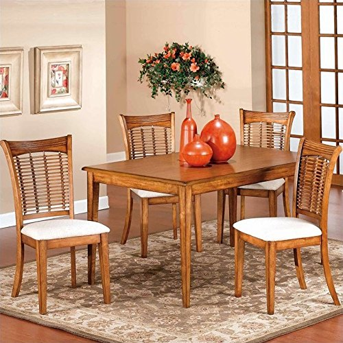 Rectangular Table Set w 4 Chairs in Oak - Bayberry/Glenmary