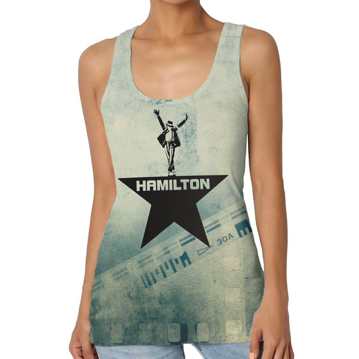 Musicals Hamilton Womens Basic Racerback Tank Top