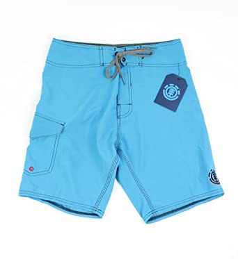 5951986b21 Image Unavailable. Image not available for. Color: Element Mens Solid  Boardshorts Blue Mens 28