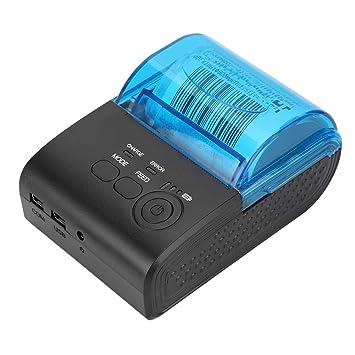 ASHATA Impresora térmica, 58MM Mini portátil inalámbrico BT ...