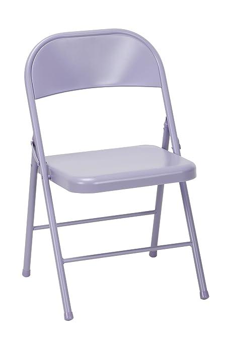Miraculous Amazon Com Novogratz 14714Lvd2E Steel Folding Chair Inzonedesignstudio Interior Chair Design Inzonedesignstudiocom