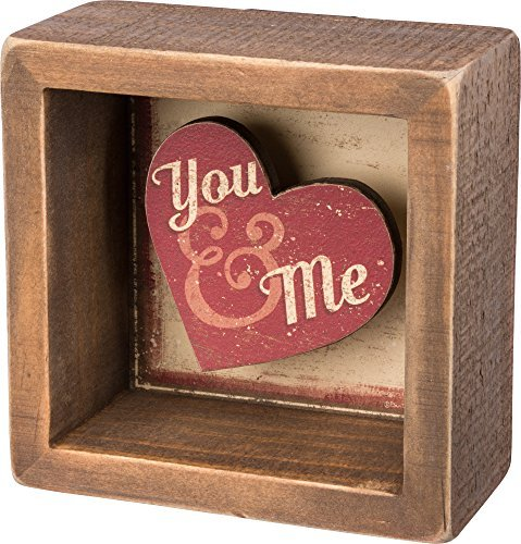 Box Sign - You and Me SIZE: 3.50