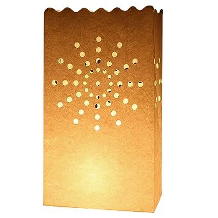 30pz papel artesanal Bolsos Bolsas para velas haz luz puerta ...