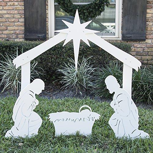 Teak Isle Outdoor Nativity Scene - Holy Family Yard Nativity Set by Teak Isle (Image #1)