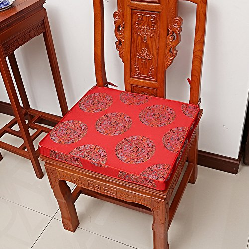 - KLWJ Mahogany Chair Cushion,[Chinese Style] Cushions Mahogany Sofa mat Solid Wood Sponge Chair Cushion Armchair seat mat [Classical]-F 38x44x5cm(15x17x2inch)