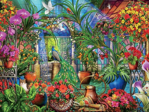 Ceaco 3401-45 Tropical Greenhouse Puzzle - 1500Piece