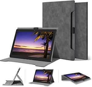 "Lenovo Tab P10/M10 10.1"" Skin-Friendly Folding Case for Lenovo Tab P10 (TB-X705F, TB-X705L) /M10 (TB-X605F) with Multiple Viewing Angles,Fits for Alexa Smart Dock Without Remove The Cover"