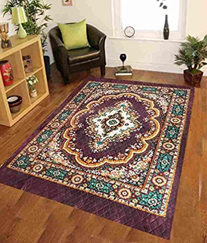 Home Elite Traditional Floral Microfibre Anti-Allergic Carpet - 55x80, Multicolour