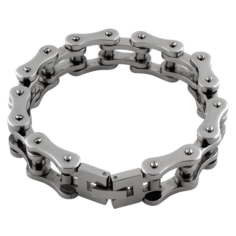 Biker Motorcycle Chain Bracelet 18MM Stainless Steel (Lengths 8-10) CloseoutWarehouse