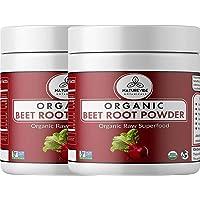 Naturevibe Botanicals Organic Beet Root Powder - 1lb ( 2 Packs of 8 Ounces Each ) - Beta vulgaris L. | Raw, Gluten-Free & Non-GMO | Increase Stamina