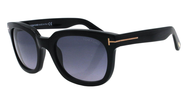 9dd43887efc9 Amazon.com: Tom Ford Sunglasses - Campbell / Frame: Shiny Black Lens: Grey  Gradient: Tom Ford: Clothing