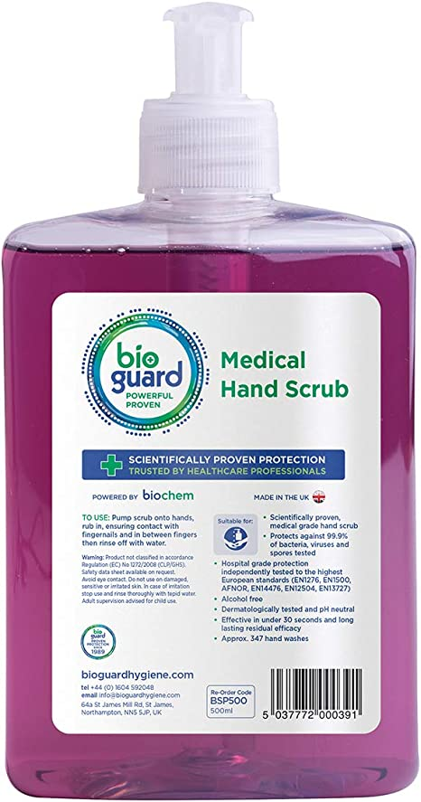 Bioguard Medical Hand Scrub 500ml Amazon Co Uk Health Personal