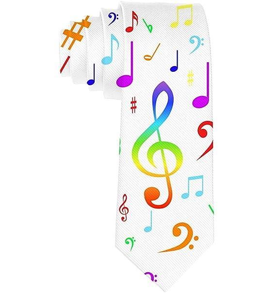 Corbata pitillo para hombre Música Notas musicales Moda Causal ...