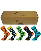 Herren Socken -Geschenk-Kasten Größe 42-46