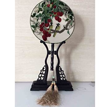 100 Handicrafts Double Face Screen Embroidery 43cm High Birds And