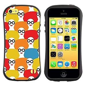 Suave TPU GEL Carcasa Funda Silicona Blando Estuche Caso de protección (para) Apple Iphone 5C / CECELL Phone case / / Girl Pattern Fashion White Red /
