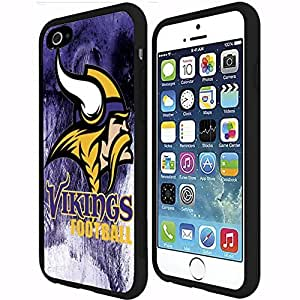 Minnesota Vikings Football Sports Rubber Snap on Phone Case (iphone 4 4s )