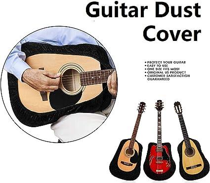Vitihipsy - Funda protectora de terciopelo para guitarra acústica, flamenco, arco superior, negro: Amazon.es: Instrumentos musicales