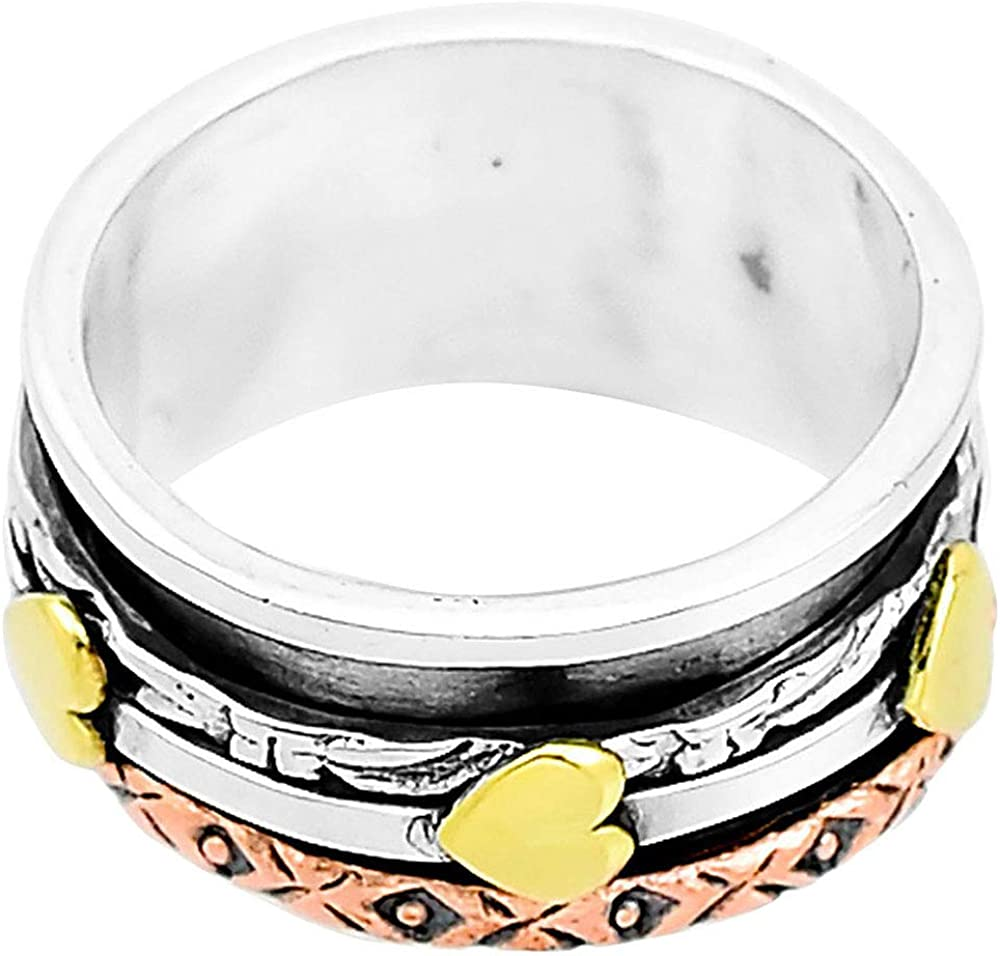 8 Desiregem Anti Anxiety and Worry Less Spinner Ring Spinning Size DGR1037