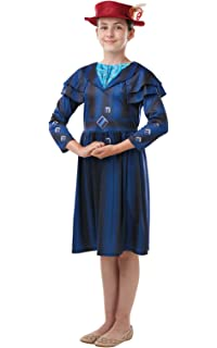 George Womens Mary Poppins Nanny Adult Fancy Dress Costume Outfit World Book Day