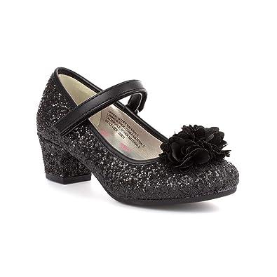 17d2a406d39b Lilley Girls Black Glitter Party Shoe: Amazon.co.uk: Shoes & Bags